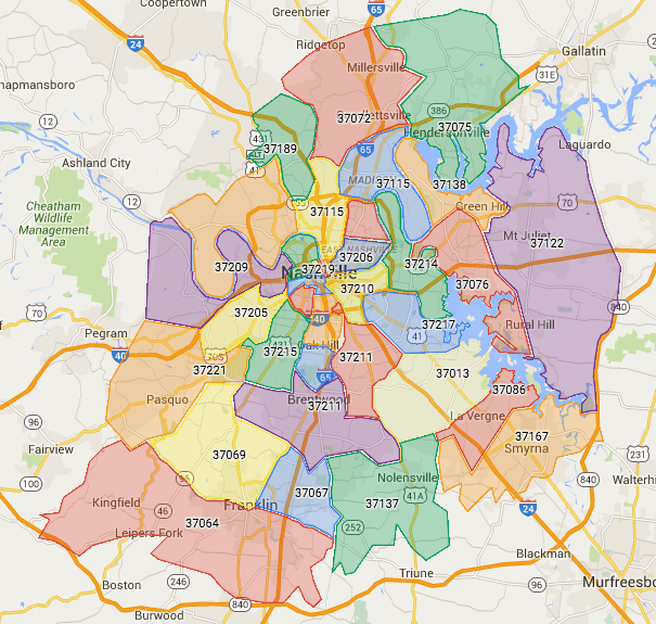 Nashville Zip Codes  Search All Homes For Sale By Zip